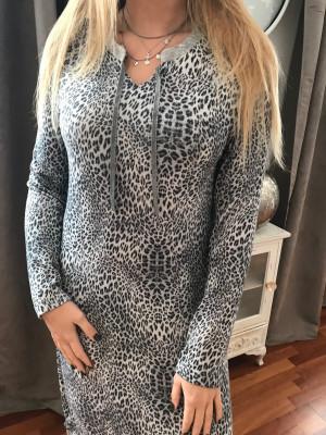 Chemise de nuit leopard egatex grise