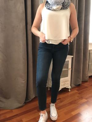 Pantalon élastiqué taille jean bleu montana