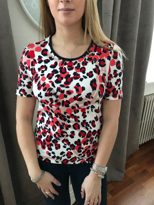 T.shirt léopard rouge Lebek