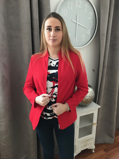 Veste rouge Lebek