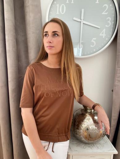 T-shirt uni camel