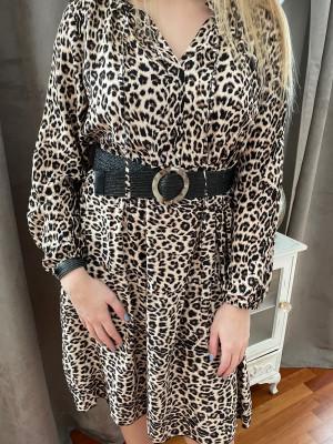 Robe mi longue léopard