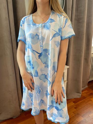 Chemise de nuit imprimé bleu Egatex