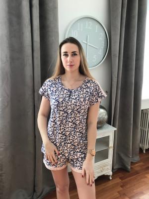 Pyjashort dragé imprime marine C.Cane