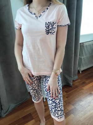 Pyjama corsaire dragé imprime marine C.Cane