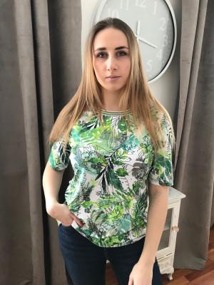 T.shirt imprimé vert Rabe