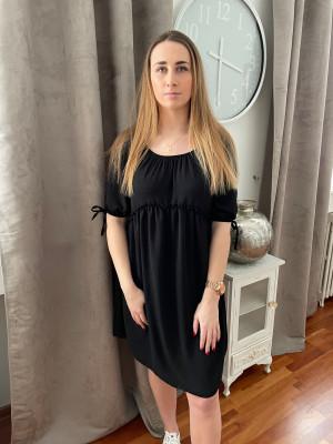 Robe froncée noire