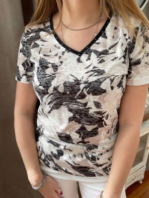 T.shirt imprimé col V