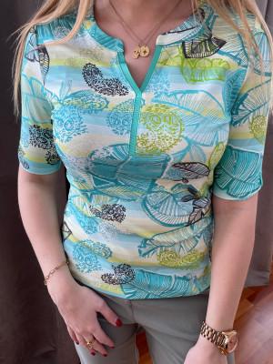 T.shirt imprimé turquoise lebek
