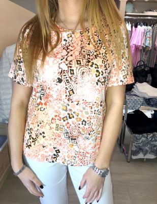 T.shirt imprimé corail