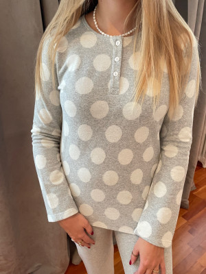 Pyjama gris et blanc chaud Christian Cane
