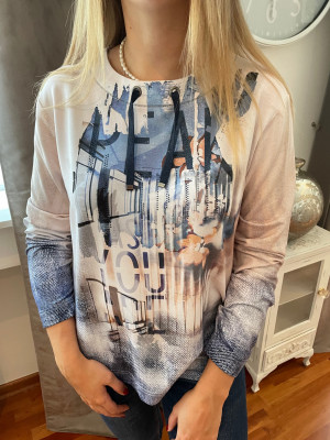 T.shirt camel et marine Rabe