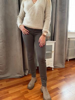 Pantalon elastique taille taupe montana