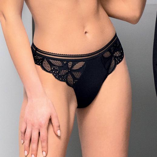 Slip charme stricto sensuelle noir antigel