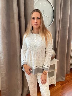 Pyjama gris et blanc Egatex