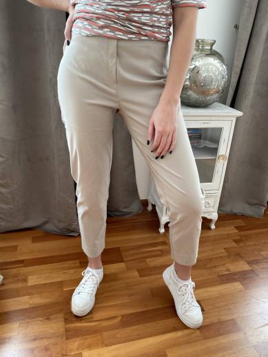 Pantalon beige élastiqué taille magic shape