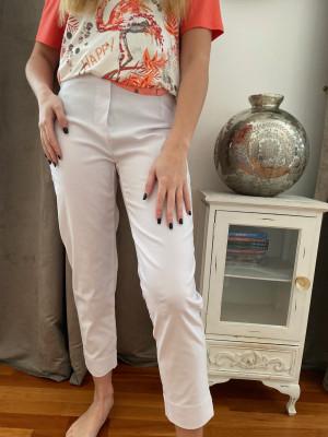 Pantalon blanc élastiqué taille magic shape