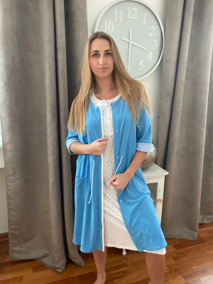 Canat peignoir bleu