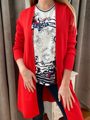 Gerry weber long gilet rouge